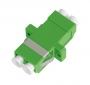 Адаптер NIKOMAX волоконно-оптический, соединительный, одномодовый 9/125мкм, LC/APC-LC/APC, двойной, пластиковый, зеленый, уп-ка 2шт.