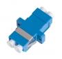 Адаптер NIKOMAX волоконно-оптический, соединительный, одномодовый 9/125мкм, LC/UPC-LC/UPC, двойной, пластиковый, синий, уп-ка 2шт.