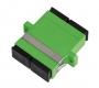 Адаптер NIKOMAX волоконно-оптический, соединительный, одномодовый 9/125мкм, SC/APC-SC/APC, двойной, пластиковый, зеленый, уп-ка 2шт.