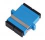 Адаптер NIKOMAX волоконно-оптический, соединительный, одномодовый 9/125мкм, SC/UPC-SC/UPC, двойной, пластиковый, синий, уп-ка 2шт.