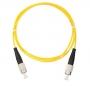 Шнур NIKOMAX волоконно-оптический, соединительный, одномодовый 9/125мкм, стандарта OS2, FC/APC-FC/APC, одинарный, PVC нг(B), 2мм, желтый, 2м