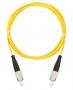 Шнур NIKOMAX волоконно-оптический, соединительный, одномодовый 9/125мкм, стандарта OS2, FC/UPC-FC/UPC, одинарный, PVC нг(B), 2мм, желтый, 1м