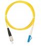 Шнур NIKOMAX волоконно-оптический, переходной, одномодовый 9/125мкм, стандарта OS2, FC/UPC-LC/UPC, одинарный, PVC нг(B), 2мм, желтый, 3м