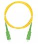 Шнур NIKOMAX волоконно-оптический, соединительный, одномодовый 9/125мкм, стандарта OS2, SC/APC-SC/APC, одинарный, PVC нг(B), 2мм, желтый, 2м