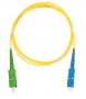 Шнур NIKOMAX волоконно-оптический, переходной, одномодовый 9/125мкм, стандарта OS2, SC/APC-SC/UPC, одинарный, PVC нг(B), 2мм, желтый, 1м