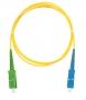 Шнур NIKOMAX волоконно-оптический, переходной, одномодовый 9/125мкм, стандарта OS2, SC/APC-SC/UPC, одинарный, PVC нг(B), 2мм, желтый, 3м