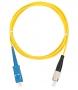 Шнур NIKOMAX волоконно-оптический, переходной, одномодовый 9/125мкм, стандарта OS2, SC/UPC-FC/UPC, одинарный, PVC нг(B), 2мм, желтый, 2м