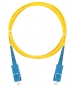 Шнур NIKOMAX волоконно-оптический, соединительный, одномодовый 9/125мкм, стандарта OS2, SC/UPC-SC/UPC, одинарный, PVC нг(B), 2мм, желтый, 3м