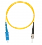 Шнур NIKOMAX волоконно-оптический, переходной, одномодовый 9/125мкм, стандарта OS2, SC/UPC-ST/UPC, одинарный, PVC нг(B), 2мм, желтый, 2м