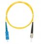 Шнур NIKOMAX волоконно-оптический, переходной, одномодовый 9/125мкм, стандарта OS2, SC/UPC-ST/UPC, одинарный, PVC нг(B), 2мм, желтый, 3м