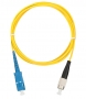 Шнур NIKOMAX волоконно-оптический, переходной, одномодовый 9/125мкм, стандарта OS2, SC/UPC-FC/UPC, одинарный, LSZH нг(В)-HFLTx, 2мм, желтый, 1м
