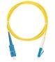 Шнур NIKOMAX волоконно-оптический, переходной, одномодовый 9/125мкм, стандарта OS2, SC/UPC-LC/UPC, одинарный, LSZH нг(В)-HFLTx, 2мм, желтый, 3м