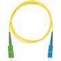 Шнур NIKOMAX волоконно-оптический, переходной, одномодовый 9/125мкм, стандарта OS2, SC/UPC-SC/APC, одинарный, LSZH нг(В)-HFLTx, 2мм, желтый, 3м