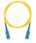 Шнур NIKOMAX волоконно-оптический, соединительный, одномодовый 9/125мкм, стандарта OS2, SC/UPC-SC/UPC, одинарный, LSZH нг(В)-HFLTx, 2мм, желтый, 1м