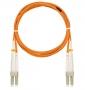 Шнур NIKOMAX волоконно-оптический, соединительный, многомодовый 50/125мкм, стандарта ОМ2, LC/UPC-LC/UPC, двойной, PVC нг(B), 2мм, оранжевый, 1м