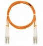 Шнур NIKOMAX волоконно-оптический, соединительный, многомодовый 50/125мкм, стандарта ОМ2, LC/UPC-LC/UPC, двойной, PVC нг(B), 2мм, оранжевый, 5м