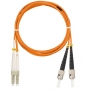 Шнур NIKOMAX волоконно-оптический, переходной, многомодовый 50/125мкм, стандарта ОМ2, LC/UPC-ST/UPC, двойной, LSZH нг(В)-HFLTx, 2мм, оранжевый, 2м