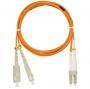 Шнур NIKOMAX волоконно-оптический, переходной, многомодовый 50/125мкм, стандарта ОМ2, SC/UPC-LC/UPC, двойной, LSZH нг(В)-HFLTx, 2мм, оранжевый, 2м