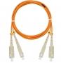 Шнур NIKOMAX волоконно-оптический, соединительный, многомодовый 50/125мкм, стандарта ОМ2, SC/UPC-SC/UPC, двойной, LSZH нг(В)-HFLTx, 2мм, оранжевый, 1м