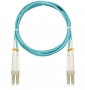 Шнур NIKOMAX волоконно-оптический, соединительный, многомодовый 50/125мкм, стандарта ОМ3, LC/UPC-LC/UPC, двойной, LSZH нг(В)-HFLTx, 2мм, аква, 2м