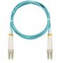 Шнур NIKOMAX волоконно-оптический, соединительный, многомодовый 50/125мкм, стандарта ОМ3, LC/UPC-LC/UPC, двойной, LSZH нг(В)-HFLTx, 2мм, аква, 3м