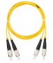 Шнур NIKOMAX волоконно-оптический, соединительный, одномодовый 9/125мкм, стандарта OS2, FC/UPC-FC/UPC, двойной, PVC нг(B), 2мм, желтый, 1м