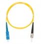 Шнур NIKOMAX волоконно-оптический, переходной, одномодовый 9/125мкм, стандарта OS2, SC/APC-LC/APC, двойной, PVC нг(B), 2мм, желтый, 1м