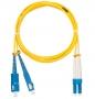 Шнур NIKOMAX волоконно-оптический, переходной, одномодовый 9/125мкм, стандарта OS2, SC/APC-SC/UPC, двойной, PVC нг(B), 2мм, желтый, 3м