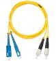 Шнур NIKOMAX волоконно-оптический, переходной, одномодовый 9/125мкм, стандарта OS2, SC/UPC-FC/UPC, двойной, PVC нг(B), 2мм, желтый, 1м