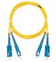 Шнур NIKOMAX волоконно-оптический, соединительный, одномодовый 9/125мкм, стандарта OS2, SC/UPC-SC/UPC, двойной, PVC нг(B), 2мм, желтый, 1м