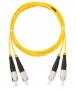 Шнур NIKOMAX волоконно-оптический, соединительный, одномодовый 9/125мкм, стандарта OS2, FC/UPC-FC/UPC, двойной, LSZH нг(В)-HFLTx, 2мм, желтый, 3м