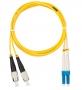 Шнур NIKOMAX волоконно-оптический, переходной, одномодовый 9/125мкм, стандарта OS2, FC/UPC-LC/UPC, двойной, LSZH нг(В)-HFLTx, 2мм, желтый, 1м