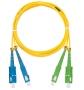 Шнур NIKOMAX волоконно-оптический, переходной, одномодовый 9/125мкм, стандарта OS2, SC/UPC-SC/APC, двойной, LSZH нг(В)-HFLTx, 2мм, желтый, 2м