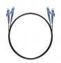 Шнур оптический dpc E2000/UPC-E2000/UPC 50/125 ОМ3 3.0мм 1м черный LSZH (патч-корд)
