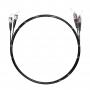 Шнур оптический dpc FC/UPC-ST/UPC 50/125 OM3 3.0мм 10м черный LSZH (патч-корд)