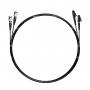 Шнур оптический dpc LC/UPC-ST/UPC50/125 OM3 3.0мм 5м черный LSZH (патч-корд)