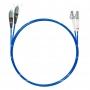 Шнур оптический dpc LC/UPC-FC/UPC50/125 OM4 3.0мм 15м LSZH (патч-корд)