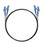 Шнур оптический dpc E2000/UPC-E2000/UPC 62.5/125 3.0мм 1м черный LSZH (патч-корд)