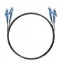 Шнур оптический dpc E2000/UPC-E2000/UPC 62.5/125 3.0мм 20м черный LSZH (патч-корд)