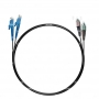 Шнур оптический dpc E2000/UPC-FC/UPC62.5/125 3.0мм 1м черный LSZH (патч-корд)