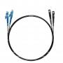 Шнур оптический dpc E2000/UPC-SC/UPC62.5/125 3.0мм 1м черный LSZH (патч-корд)