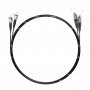 Шнур оптический dpc FC/UPC-ST/UPC 62.5/125 3.0мм 10м черный LSZH (патч-корд)