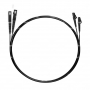 Шнур оптический dpc LC/UPC-SC/UPC62.5/125 3.0мм 1м черный LSZH (патч-корд)