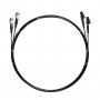 Шнур оптический dpc LC/UPC-ST/UPC62.5/125 3.0мм 2м черный LSZH (патч-корд)