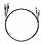 Шнур оптический dpc MU/UPC-LC/UPC62.5/125 2.0мм 1м черный LSZH (патч-корд)
