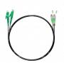 Шнур оптический dpc E2000/APC-FC/APC9/125 3.0мм 1м черный LSZH (патч-корд)