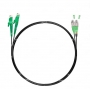 Шнур оптический dpc E2000/APC-FC/APC9/125 3.0мм 3м черный LSZH (патч-корд)