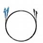 Шнур оптический dpc E2000/UPC-LC/UPC9/125 3.0мм 2м черный LSZH (патч-корд)