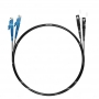 Шнур оптический dpc E2000/UPC-SC/UPC9/125 3.0мм 2м черный LSZH (патч-корд)