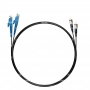 Шнур оптический dpc E2000/UPC-ST/UPC9/125 3.0мм 2м черный LSZH (патч-корд)